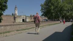 Belgrade fortress inner stambol Gate 4K Stock Footage