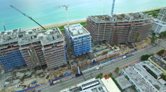 Shore Club and the Four Seasons aerial video 5 Stock Footage