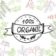 Vector background hand drawn herbs and spices. Stock Illustration