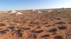 Aerial coober pedy mines Stock Footage