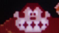 Closer macro ECU Gorilla character from ''Donkey Kong' Classic Retro Arcade V - stock footage