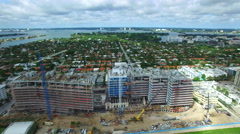 Shore Club and the Four Seasons aerial video 6 Stock Footage