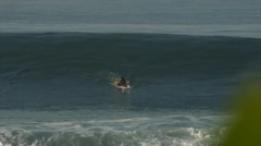 Surfer Gets Perfect Tube Stock Footage