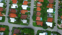Miami Beach homes aerial video 5 Stock Footage
