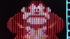 Macro Extreme Close up of Gorilla character ('Donkey Kong') from ''Donkey Kon Stock Footage