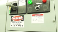 Electrical substation room Stock Footage