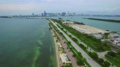 Vacation Key Biscayne aerial video Stock Footage