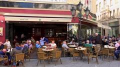 Vaci utca street in Budapest. 4K. - stock footage