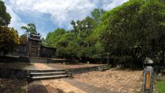Timelapse time-lapse of Lang Tu Duc without people Tomb of Emperor Tu Duc 4k Stock Footage