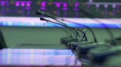 Tech controller and control station Stock Footage