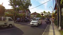 Well developed tourist area of Kuta, Bali Stock Footage