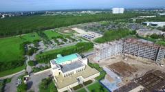 Aerial video of Florida International university 2 Stock Footage