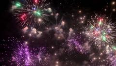 Stock Video Footage of Close up of firework pyrotechnic show