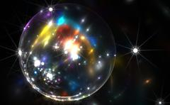Stock Illustration of Abstract colorful bubble with sparkles