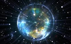 Spherical energetic quantum bubble Stock Illustration