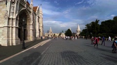 Matthias Church in Budapest. 4K. Stock Footage