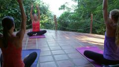 Attractive Women Yoga Class 4K Stock Video Footage Stock Footage