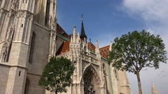 Matthias Church in Budapest. 4K. Stock Footage