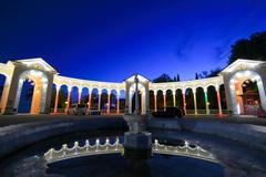 Colonnade night view - stock photo