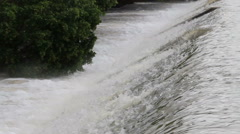 Flood water flow. Stock Footage