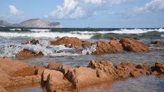 Tavolara island coast, Sardinia. Stock Footage