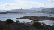 Stock Video Footage of Tavolara island coast, Sardinia.