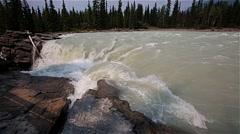 Cascade of the Athabasca Falls, Alberta, Canada - stock footage