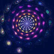 Colorful spiral fantasy in space, computer generated abstract background Stock Illustration
