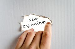 New beginnings text concept - stock photo