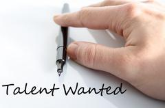 Talent wanted text concept Stock Photos