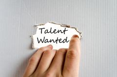 Talent wanted text concept - stock photo
