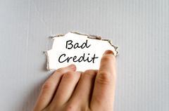 Bad credit text concept Stock Photos