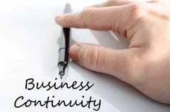 Business continuity text concept Stock Photos