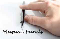 Mutual funds text concept - stock photo