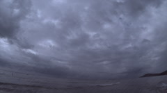 A time lapse of bad weather at seaside Stock Footage