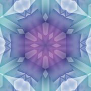 Seamless floral pattern purple turquoise - stock illustration