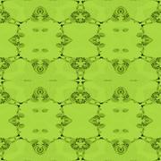 Seamless ornaments green shades Stock Illustration
