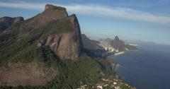Flying around Pedra de Gavea mountain , Rio de Janeiro - stock footage