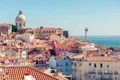 Lisbon cityscape of Alfama, Lisbon Stock Photos