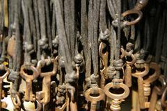 Keys on the strings Stock Photos