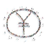 Stock Illustration of people shape  sign  yuan money
