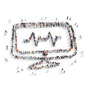 People  shape  cardio monitor Stock Illustration