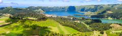 Lake of Sete Cidades from Vista do Rei viewpoint in Sao Miguel, Azores Stock Photos