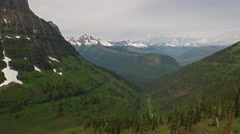 Aerial Montana Glacier National Park - stock footage