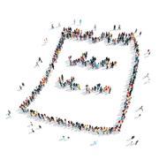 Stock Illustration of people  shape  sheet cartoon