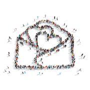 Stock Illustration of people  shape  letter love