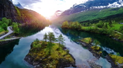 Aerial footage from Beautiful Nature Norway. Stock Footage