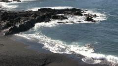 Lanzarote - beach - waves Stock Footage