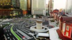 Tokyo Station Marunouchi Site in Tilt Shift Look Stock Footage