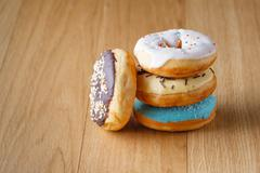 Donuts with decorations Stock Photos